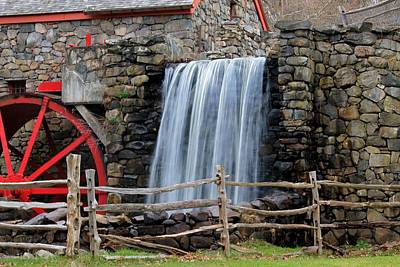 Photograph - Wayside Inn Old Grist Mill 2 by Michael Saunders