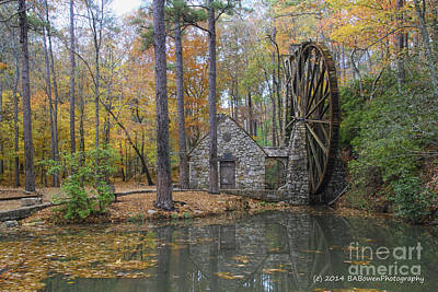 Rural Scenes Photograph - Old Grist Mill 4 by Barbara Bowen