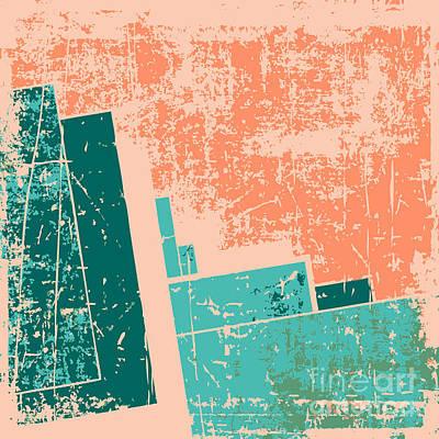 Red Digital Art - Old Grunge Pattern Vector Background by Nik Merkulov