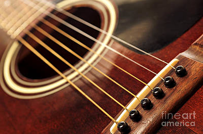 Old Guitar Art Print by Elena Elisseeva