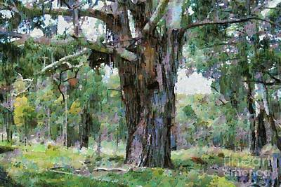 Digital Art - Old Gum Tree by Fran Woods
