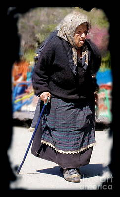 Photograph - Old Gypsy Woman by Tamyra Crossley