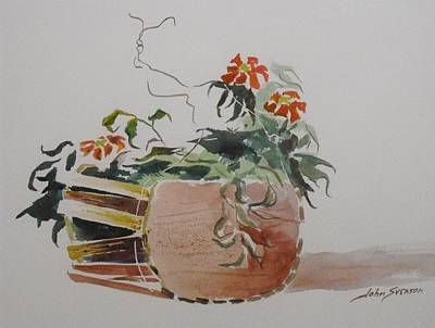 Painting - Old Hanging Basket   by John  Svenson