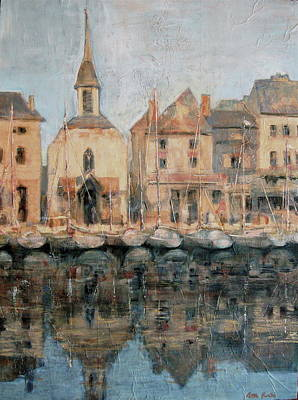 Charming Town Painting - Old Harbor At Honfleur by Patton Hunter