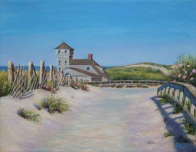 Old Harbor Life Saving Station Original by Candice Ronesi