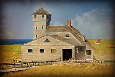 Old Harbor Lifesaving Station On Cape Cod Art Print by Stephen Stookey