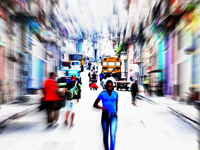 Photograph - Old Havana Cuban Stroll by Funkpix Photo Hunter