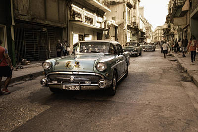 Downtown Wall Art - Photograph - Old  Havana  Street by Alper Uke