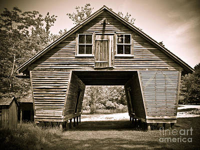Photograph - Old Corn Crib In Sepia by Colleen Kammerer