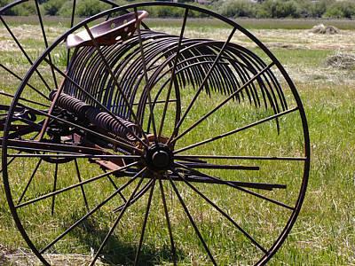 Antique Hay Rake Photograph - Old Hay Rake by Kae Cheatham