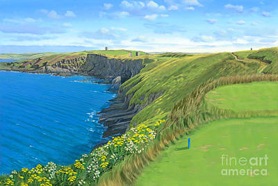 Painting - Old Head Golf Club Ireland by Tim Gilliland