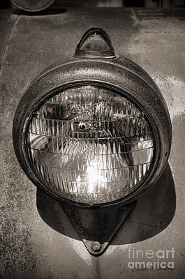 Photograph - Old Headlamp II by Dave Gordon