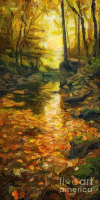Old Hidden Creek Art Print by Celestial Images