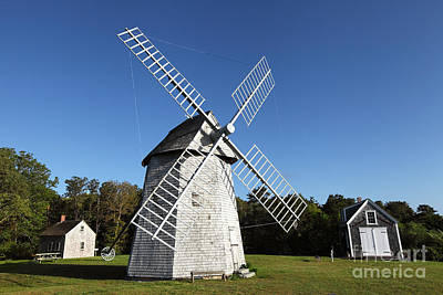 Cape Cod Photograph - Old Higgins Windmill by Denis Tangney Jr