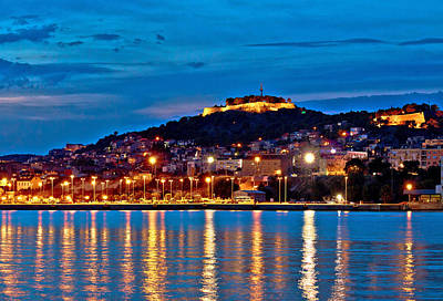Photograph - Old Historic Sibenik Night View by Brch Photography