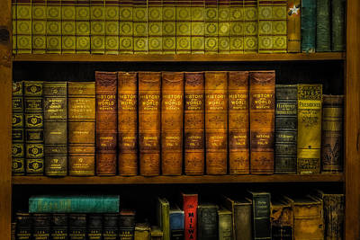 Hardcover Photograph - Old History Books by Paul Freidlund