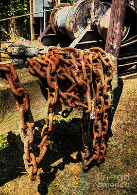 Photograph - Old Hoisting Chain by Kathy Baccari