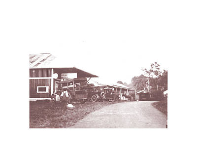 Photograph - Old Holualoa With Model Ts by Mary Lovein