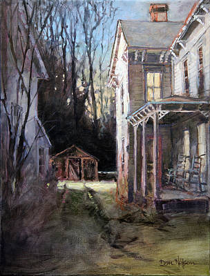 Painting - Old Home Place In Winter by Dan Nelson