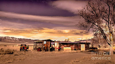 Old Trucks Photograph - Old Homestead by Robert Bales