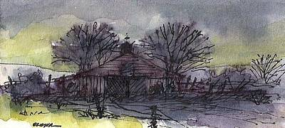 Ink Mixed Media - Old Homestead by Tim Oliver