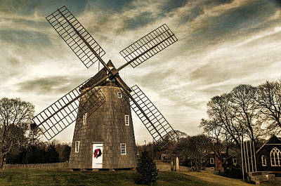 Old Hook Windmill Art Print