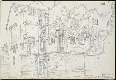 Religious Drawings Photograph - Old House And Chapel by British Library
