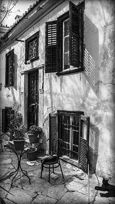Photograph - Old House Black And White by Radoslav Nedelchev