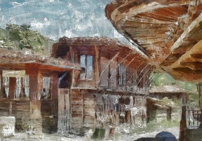 Art Print featuring the painting Old House by Georgi Dimitrov