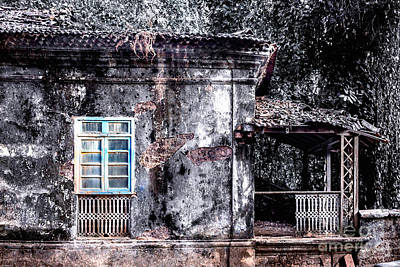 Digital Haunted House Photograph - Old House Goa by Catherine Arnas