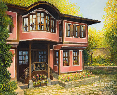 Old House In Koprivshtica Art Print by Kiril Stanchev