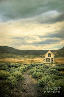 Old House In Sage Brush Art Print by Jill Battaglia