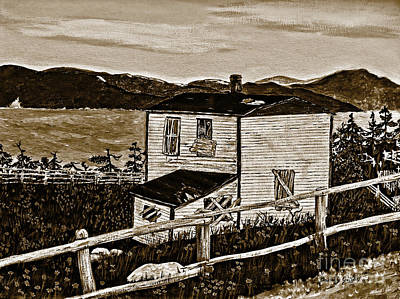 Old House In Sepia Art Print