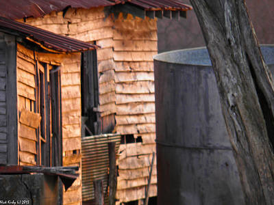 World Forgotten Rights Managed Images - Old House In The Sunset Royalty-Free Image by Nick Kirby