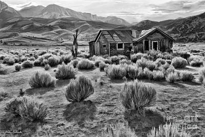 Photograph - Old House Near Mono Lake Black And White by Blake Richards