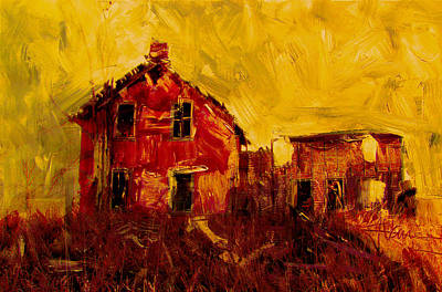 Mixed Media - Old House Near Stirling by Jim Vance