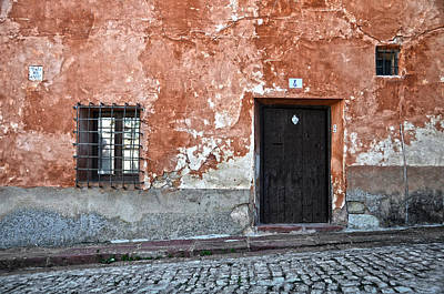 Antique Ironwork Photograph - Old House Over Cobbled Ground by RicardMN Photography