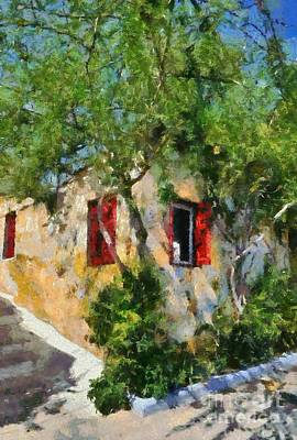 House Painting - Old House In Plaka by George Atsametakis