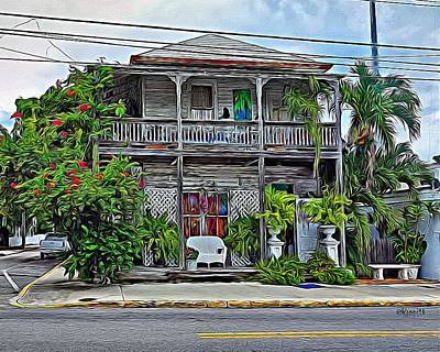 Photograph - Old House - Quirky Key West by Rebecca Korpita