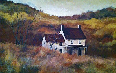 Painting - Old House by Steven Lester
