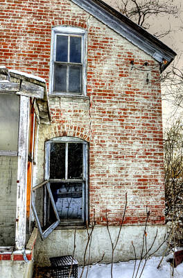 Jerry Sodorff Royalty-Free and Rights-Managed Images - Old House Two Windows 13104 by Jerry Sodorff
