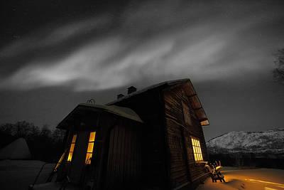 Angels And Cherubs - Old House under the Northern Lights by Pekka Sammallahti