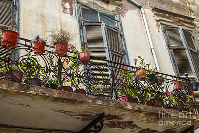 Photograph - Old House With Shutters And Balcony by Patricia Hofmeester