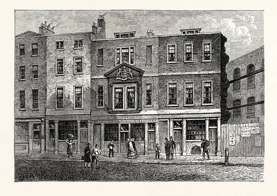 Old Houses In Fetter Lane West Side Near The Record Office Art Print by English School