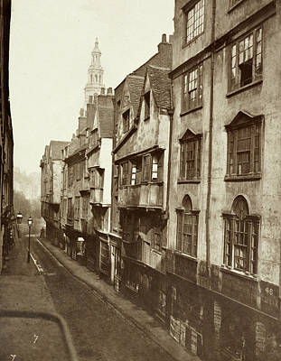 Old Houses In Wych Street. Art Print by British Library