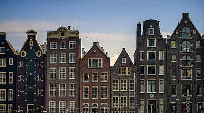 Old Houses Of Amsterdam. Holland Art Print by Jenny Rainbow