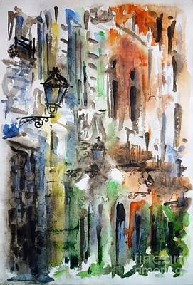 Impressionism Paintings - Old Houses of San Juan by Zaira Dzhaubaeva