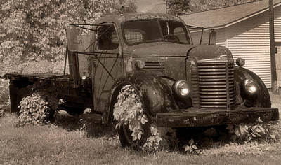 Old International Truck Art Print