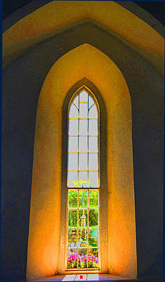 Digital Art - Old Irish Church Window by Richard Ortolano