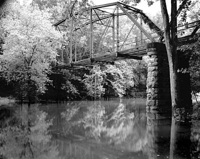 Old Iron Bridge Art Print